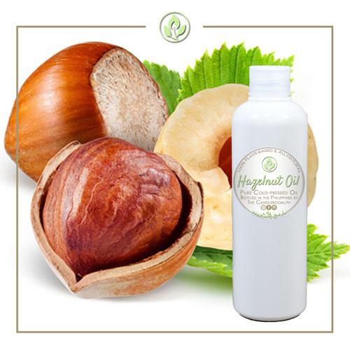 Hazelnuts and white bottle cover photo